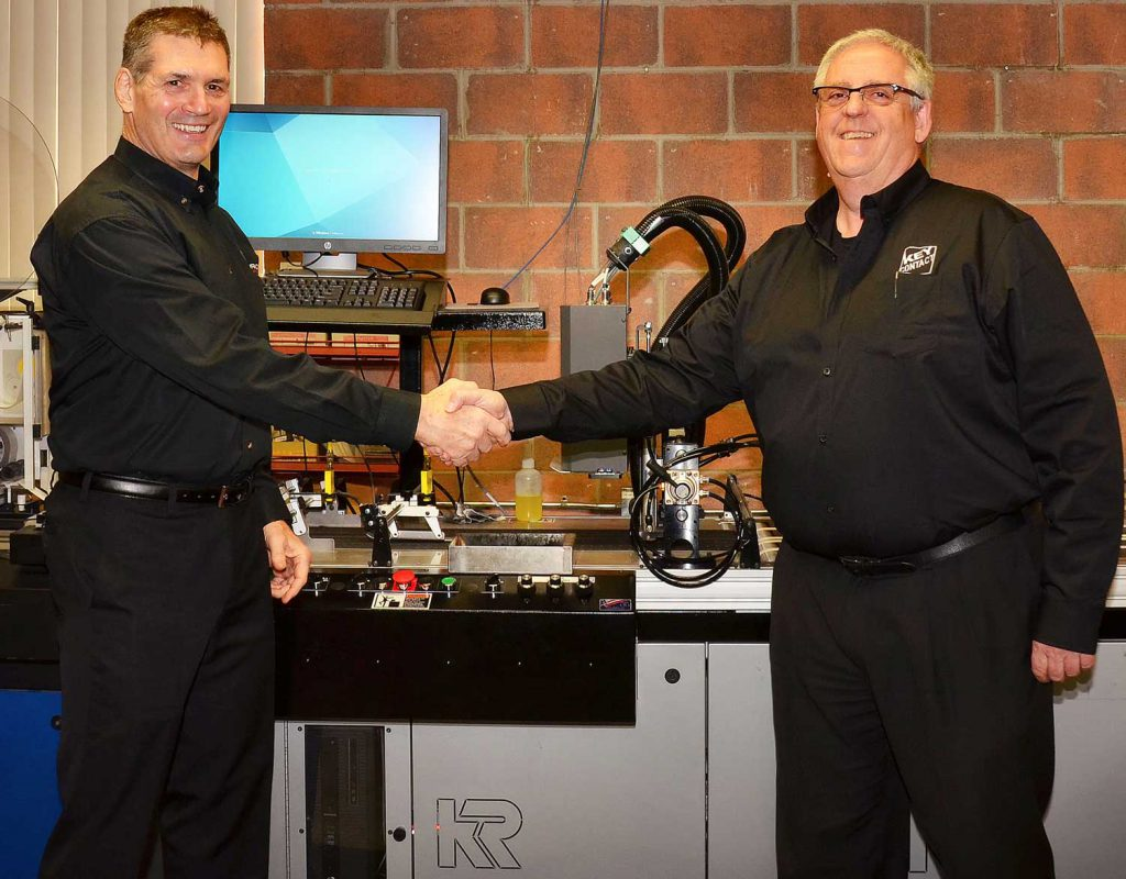 Insource President Tim Wakefield (left) with KeyContact owner Ken Fischer